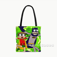 Rick and Morty Bat Dimension Custom Personalized Tote Bag Polyester with Small Medium Large Size