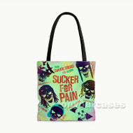 Sucker for Pain Suicide Silence Custom Personalized Tote Bag Polyester with Small Medium Large Size