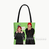 Suicide Squad Twenty One Pilots Custom Personalized Tote Bag Polyester with Small Medium Large Size