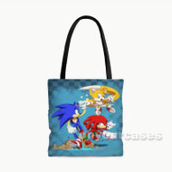 Team Sonic The Hedgehog Custom Personalized Tote Bag Polyester with Small Medium Large Size