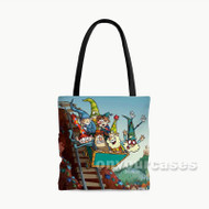 The 7D Custom Personalized Tote Bag Polyester with Small Medium Large Size