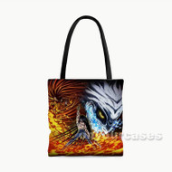 Ushio to Tora Custom Personalized Tote Bag Polyester with Small Medium Large Size
