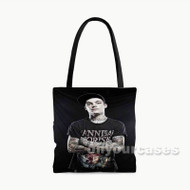 Ahren Stringer the Amity Affliction Tattoo Custom Personalized Tote Bag Polyester with Small Medium Large Size