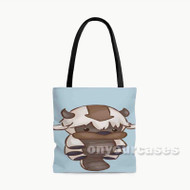 Appa Yip Yip AVatar The Legend of Aang Custom Personalized Tote Bag Polyester with Small Medium Large Size