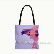 Disney Pocahontas and Prince Cliff Quotes Custom Personalized Tote Bag Polyester with Small Medium Large Size