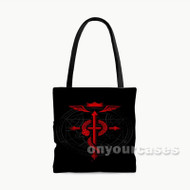 Fullmetal Alchemist Logo Custom Personalized Tote Bag Polyester with Small Medium Large Size