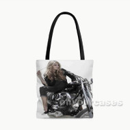 Gigi Hadid Motorcycles Custom Personalized Tote Bag Polyester with Small Medium Large Size
