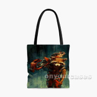 Guardians of the Galaxy Rocket Raccoon Custom Personalized Tote Bag Polyester with Small Medium Large Size