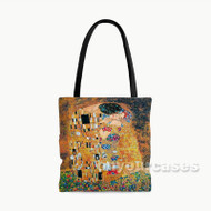 Gustav Klimt The Kiss Custom Personalized Tote Bag Polyester with Small Medium Large Size