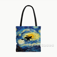 Harry Potter s Starry Night Custom Personalized Tote Bag Polyester with Small Medium Large Size