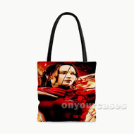 Katniss Everdeen Mockingjay Part 2 Custom Personalized Tote Bag Polyester with Small Medium Large Size