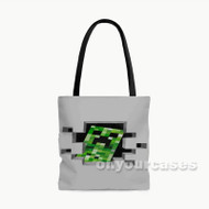 Minecraft Custom Personalized Tote Bag Polyester with Small Medium Large Size