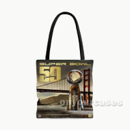 Super Bowl 50 San Francisco Custom Personalized Tote Bag Polyester with Small Medium Large Size