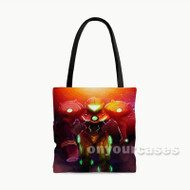 Super Metroid Samus Aran Custom Personalized Tote Bag Polyester with Small Medium Large Size