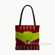 Super Metroid Samus Aran Mask Custom Personalized Tote Bag Polyester with Small Medium Large Size