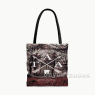 The Amity Affliction Custom Personalized Tote Bag Polyester with Small Medium Large Size
