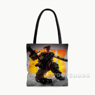 Call of Duty Black Ops 4 Battery Custom Personalized Tote Bag Polyester with Small Medium Large Size