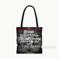 Good Charlotte and The Story So Far TOur Custom Personalized Tote Bag Polyester with Small Medium Large Size