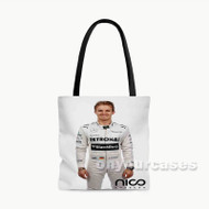 Nico Rosberg Custom Personalized Tote Bag Polyester with Small Medium Large Size