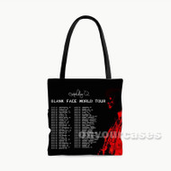 Sc Hoolboy Q Blank Face Tour Custom Personalized Tote Bag Polyester with Small Medium Large Size