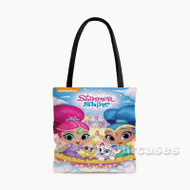 Shimmer and Shine Custom Personalized Tote Bag Polyester with Small Medium Large Size