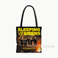 Sleeping With Sirens End The Madness Tour Custom Personalized Tote Bag Polyester with Small Medium Large Size