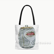 Stella Artois Crushed Custom Personalized Tote Bag Polyester with Small Medium Large Size