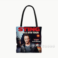 Sting 25th 9th Tour Custom Personalized Tote Bag Polyester with Small Medium Large Size