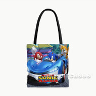 Team Sonic Racing Custom Personalized Tote Bag Polyester with Small Medium Large Size