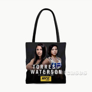 Tecia Torres vs Michelle Waterson UFC Custom Personalized Tote Bag Polyester with Small Medium Large Size