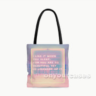 The 1975 I Like it When You SLeep Custom Personalized Tote Bag Polyester with Small Medium Large Size