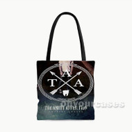 The Amity Affliction Chasing Ghost Custom Personalized Tote Bag Polyester with Small Medium Large Size