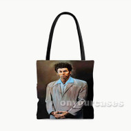THe Kramer Jerry Seinfeld Custom Personalized Tote Bag Polyester with Small Medium Large Size