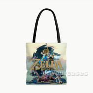 The Legend of Zelda Breath of the Wild Custom Personalized Tote Bag Polyester with Small Medium Large Size