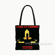 The Weeknd I Feel it Coming Custom Personalized Tote Bag Polyester with Small Medium Large Size
