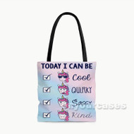 Today I Can Be Custom Personalized Tote Bag Polyester with Small Medium Large Size