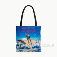 Travis Scott HIGHEST IN THE ROOM Custom Personalized Tote Bag Polyester with Small Medium Large Size