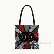Twenty One Pilots Pattern Flag Custom Personalized Tote Bag Polyester with Small Medium Large Size