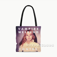Vampire Weekend Contra Custom Personalized Tote Bag Polyester with Small Medium Large Size