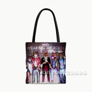 Wearing My Rolex Custom Personalized Tote Bag Polyester with Small Medium Large Size