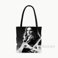 Young David Gilmour Custom Personalized Tote Bag Polyester with Small Medium Large Size