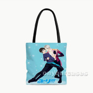 Yuri on Ice Victuri Custom Personalized Tote Bag Polyester with Small Medium Large Size