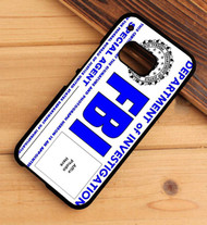 fbi card custom photos HTC One X M7 M8 M9 Case