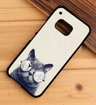 Glasses cat HTC One X M7 M8 M9 Case