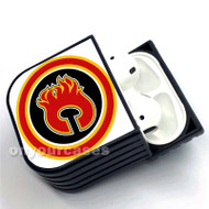 Calgary Flames NHL Custom Air Pods Case Cover for Gen 1, Gen 2, Pro