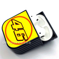 Valentino Rossi Yellow Custom Air Pods Case Cover for Gen 1, Gen 2, Pro