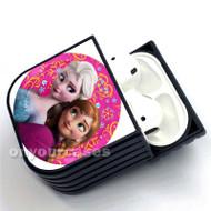 Anna and Elsa Frozen Disney Custom Air Pods Case Cover for Gen 1, Gen 2, Pro