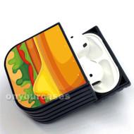 Burger Texture Custom Air Pods Case Cover for Gen 1, Gen 2, Pro