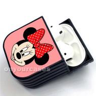 Minnie Face Custom Air Pods Case Cover for Gen 1, Gen 2, Pro
