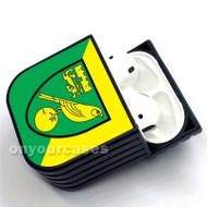 Norwich City FC Custom Air Pods Case Cover for Gen 1, Gen 2, Pro